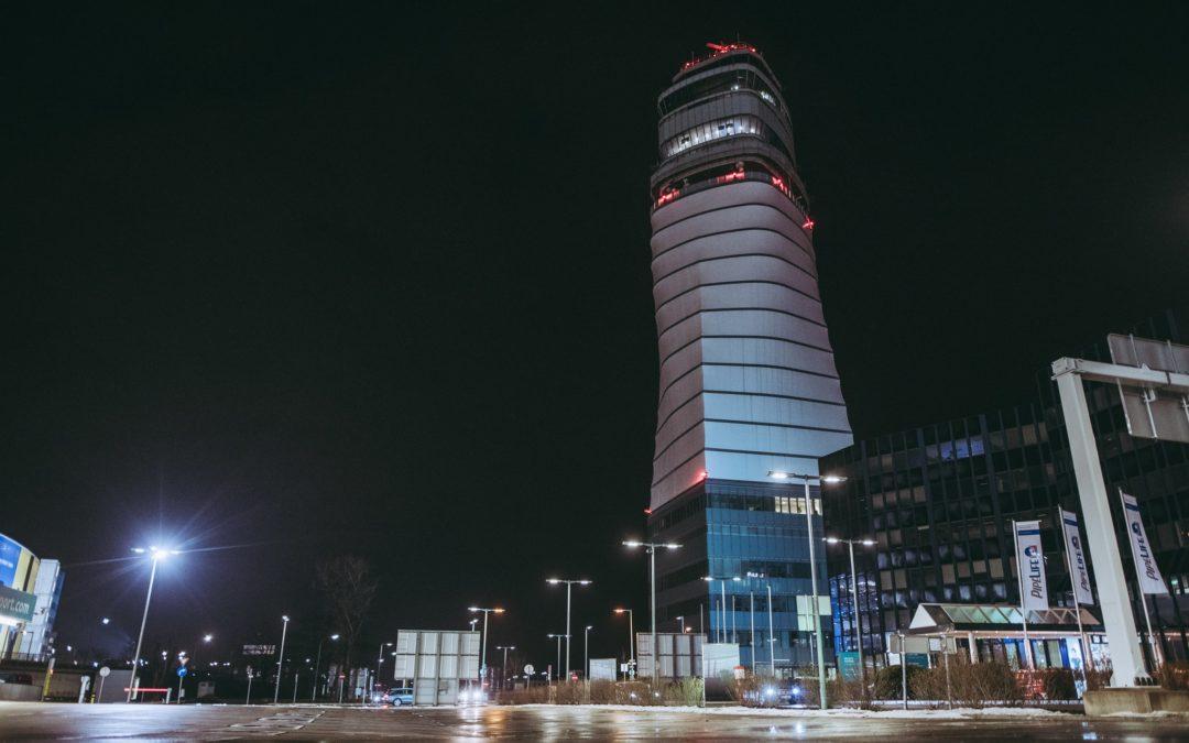 Flughafen Wien aus der Vogelperspektive